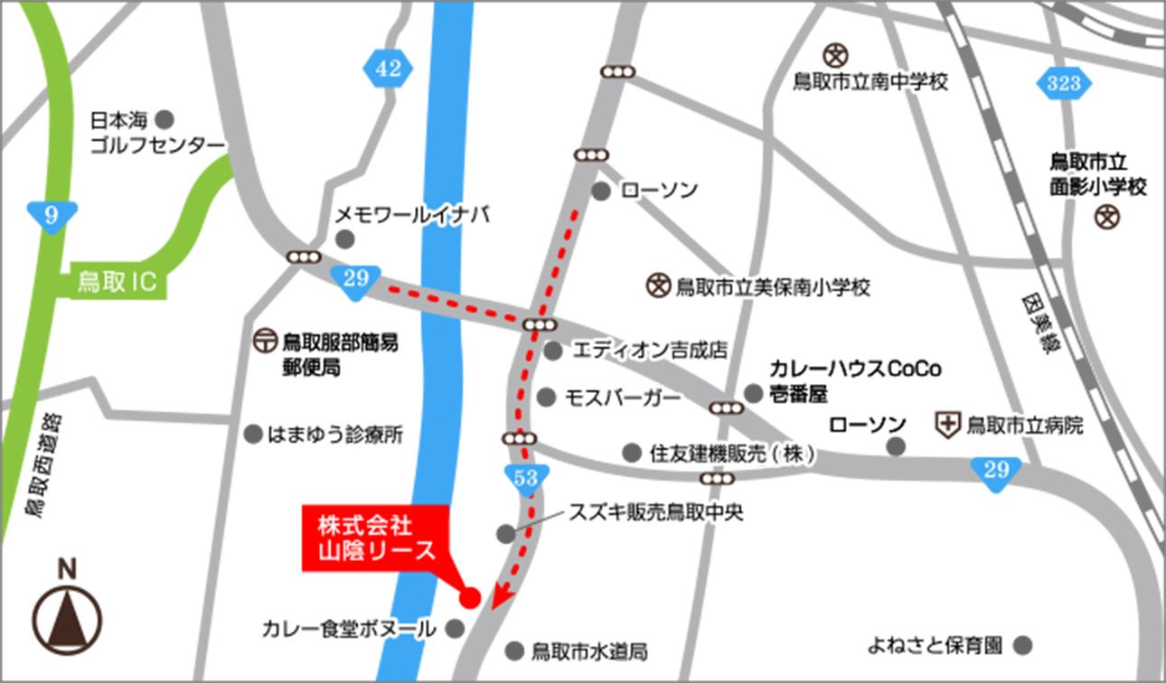 鳥取営業所地図